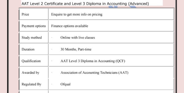 Aat Spreadsheet Exam Regarding Aat Level 2 Certificate And Level 3 Diploma In Accountingraj