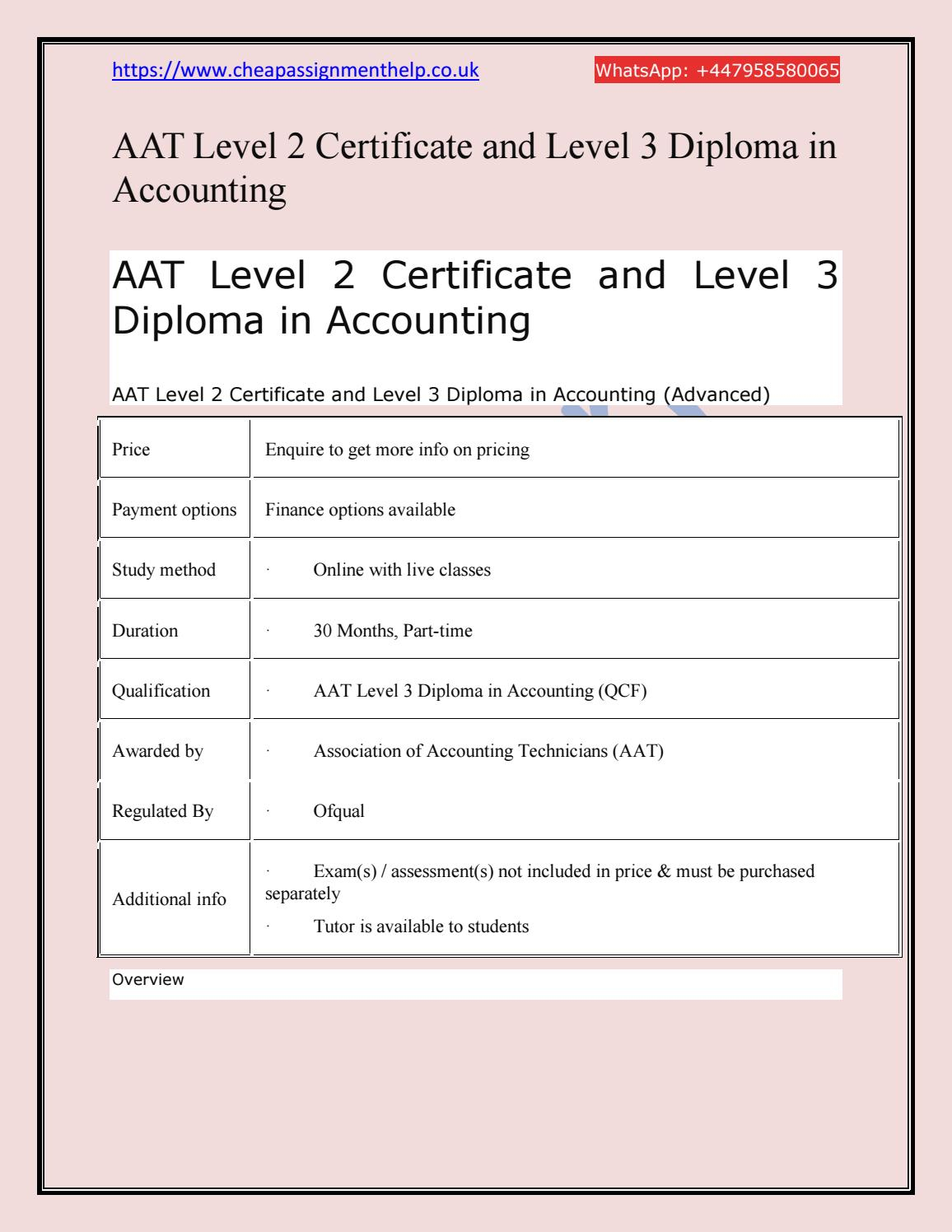 Aat Spreadsheet Exam Regarding Aat Level 2 Certificate And Level 3 Diploma In Accountingraj