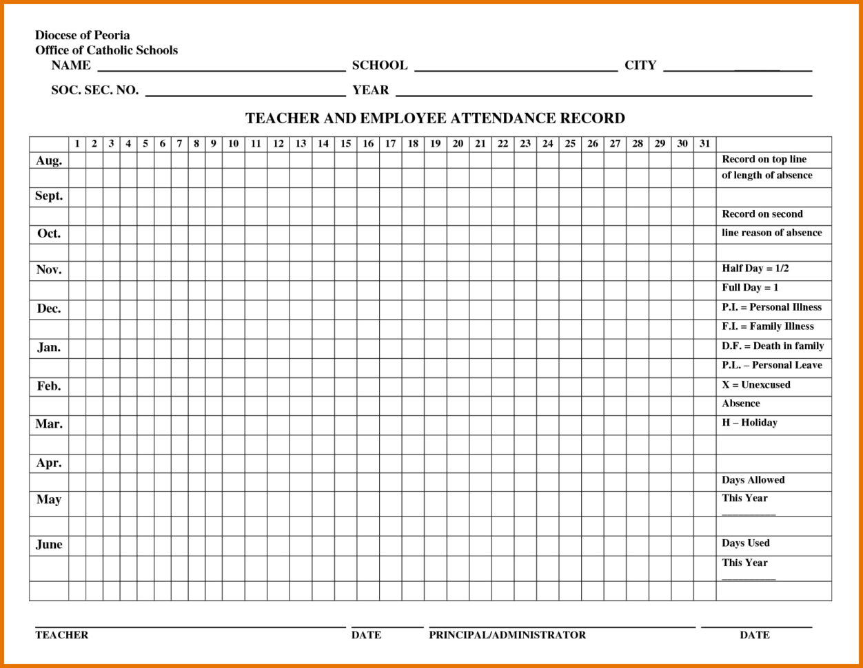 Absence Tracking Spreadsheet Throughout Employee Absence Tracking Excel Template 2017 – Spreadsheet Collections