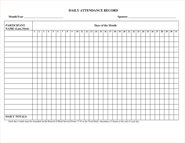 Absence Tracking Spreadsheet Throughout Employee Attendance Tracking Spreadsheet And 5 Attendance Record