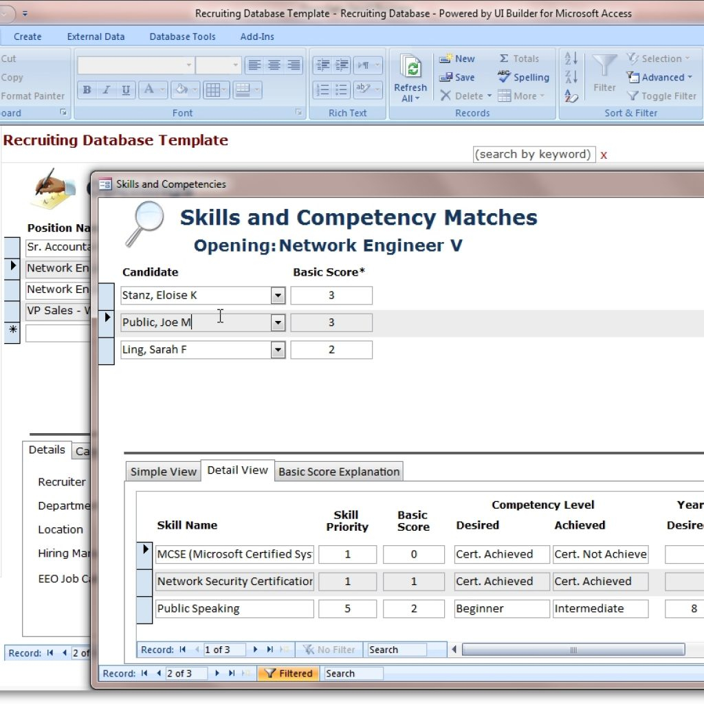 Access Spreadsheet Intended For Access Database Templates Cyberuse Inside Invoice Template Free