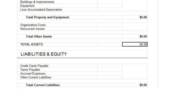 Account Balance Spreadsheet Template Inside 38 Free Balance Sheet Templates  Examples  Template Lab