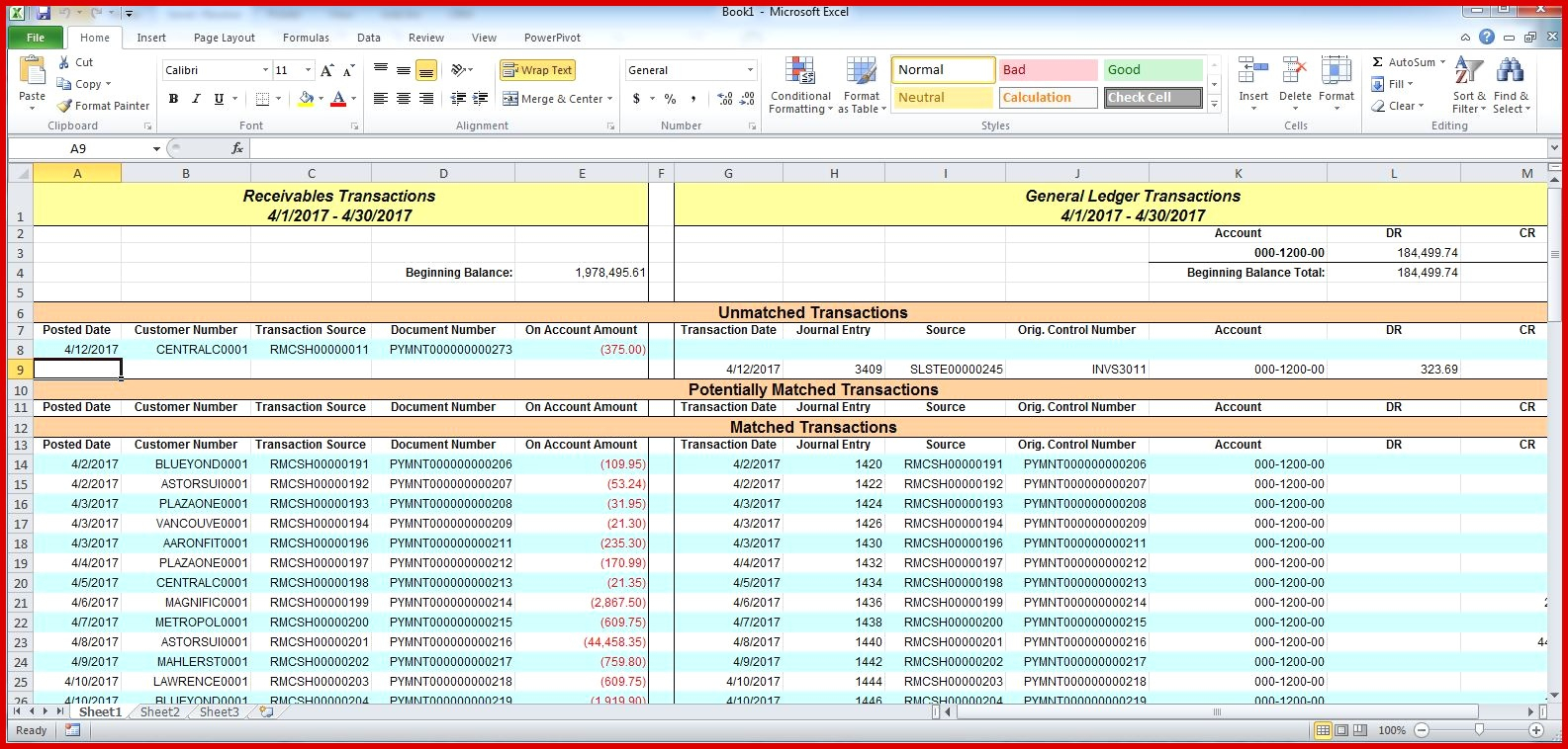 accounts payable reconciliation spreadsheet  u2013 db