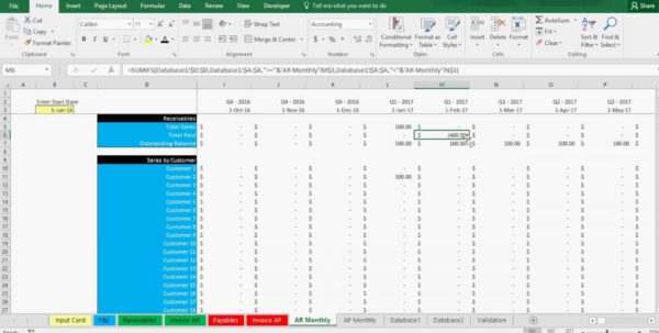 Accounts Payable Spreadsheet Example Intended For 001 Accounts Receivable Excel Spreadsheet Template Maxresdefault