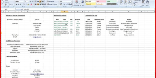 Accounts Receivable Excel Spreadsheet Template Free Within Elegant Account Receivable Template Excel Format  Wing Scuisine