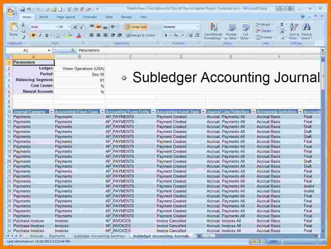 Accounts Receivable Spreadsheet Template Inside 5 Accounts Receivable Ledger Excel Template  Ledger Review With