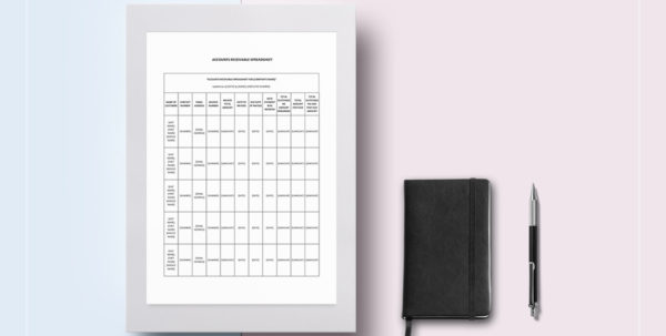 Accounts Receivable Spreadsheet With Regard To Accounts Receivable Spreadsheet Template In Word, Google Docs, Apple