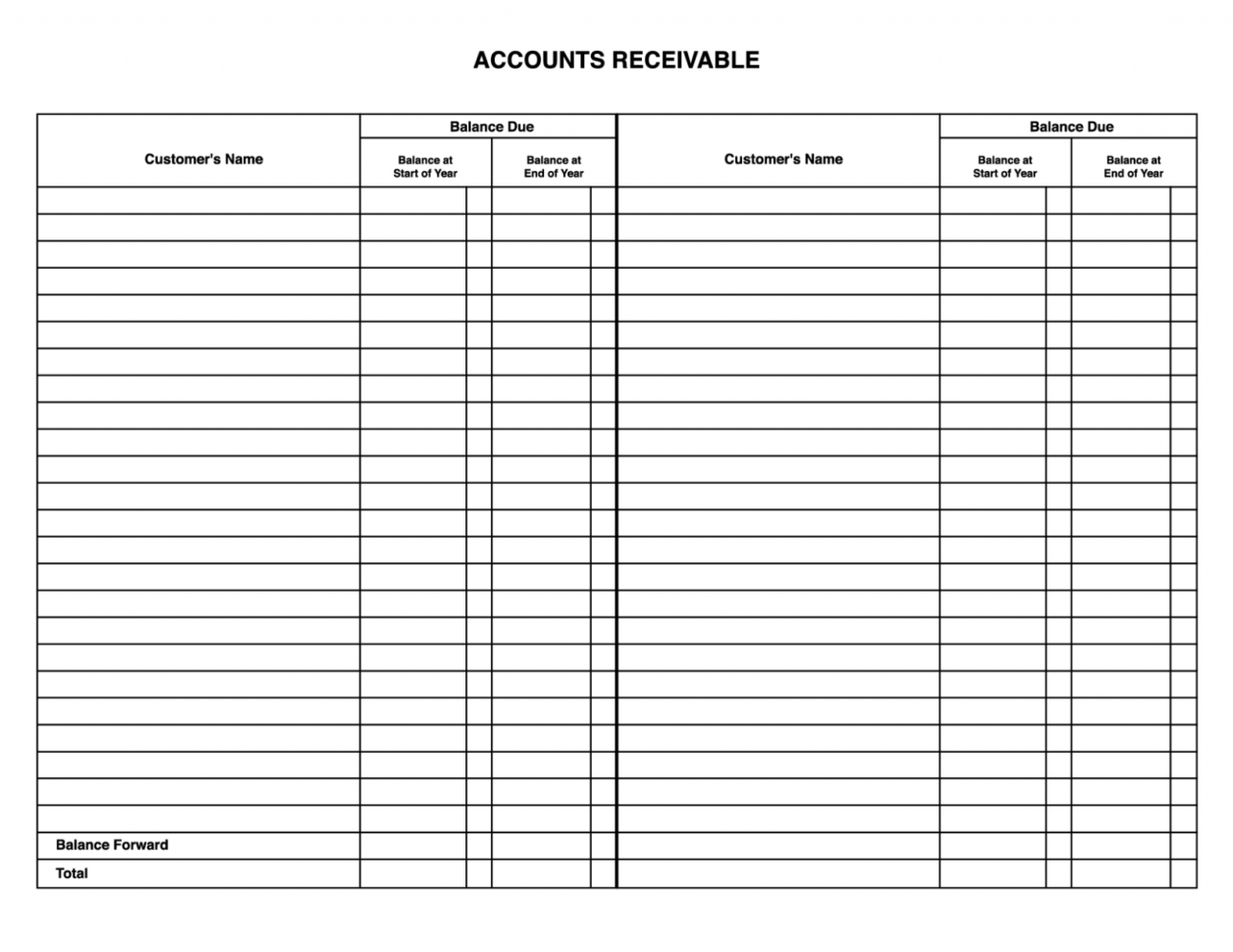 Accounts Receivable Spreadsheet With Regard To Free Accounting Spreadsheet Templates For Small Business And