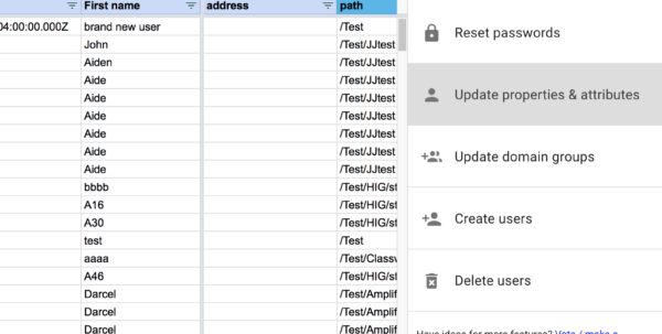 Active Directory User Attributes Spreadsheet Inside Bulk Update Existing Users' Properties  Attributes – Help Center