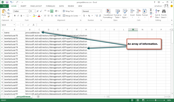 Active Directory User Attributes Spreadsheet With Export User Names And Proxy Addresses To Csv File – Hey, Scripting