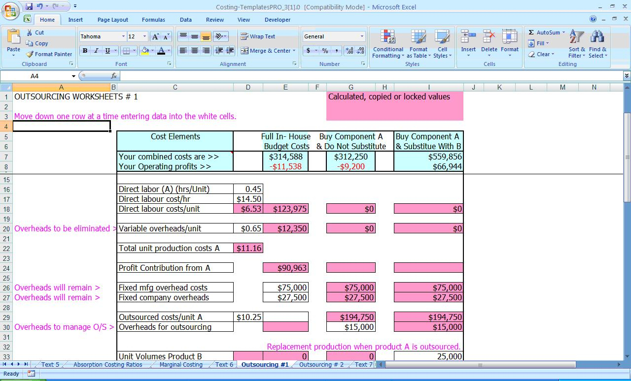 Activity Based Costing Spreadsheet Inside Financial Excel Templates, Spreadsheets 2013