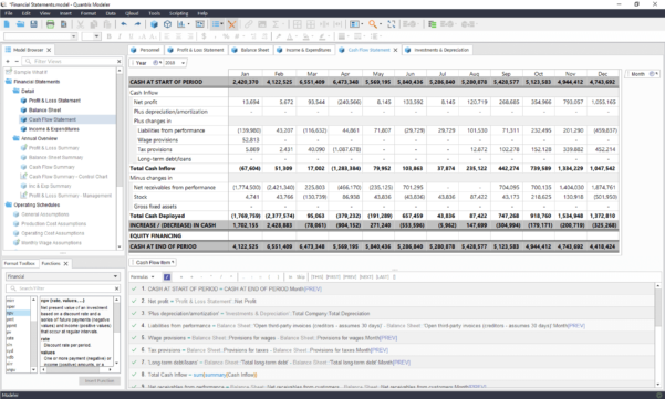 Advanced Spreadsheet Modeling Inside Multidimensional Advanced Financial Modeling Software From Quantrix