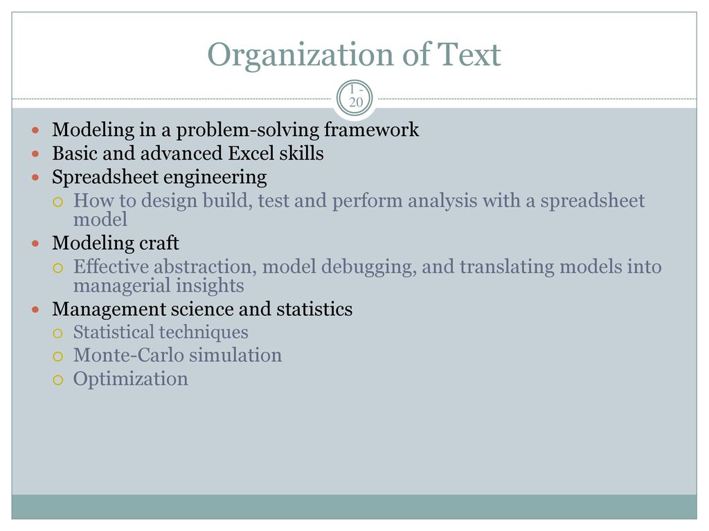 Advanced Spreadsheet Modeling With Regard To Management Science: The Art Of Modeling With Spreadsheets, 3E  Ppt