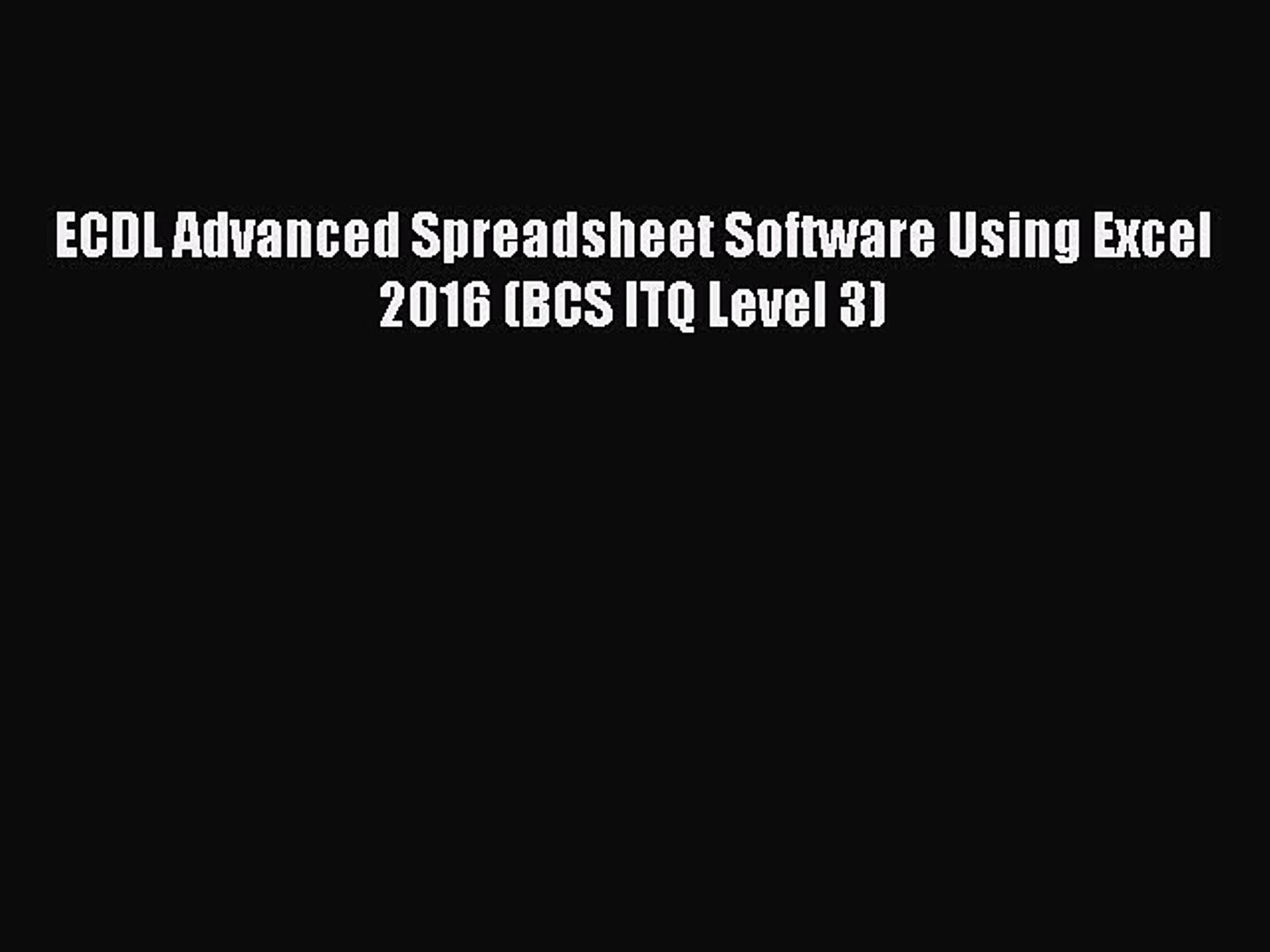Advanced Spreadsheet Software Pertaining To Download Ecdl Advanced Spreadsheet Software Using Excel 2016 Bcs