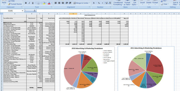 Advertising Spreadsheet Inside Budget Breakdown  Kristina L. Gaddy