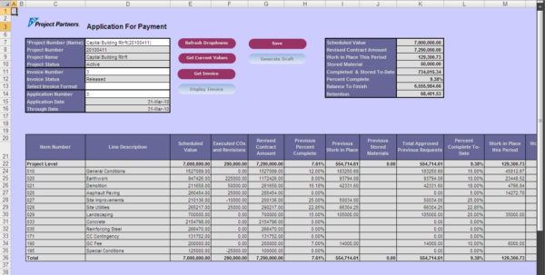 Aia Schedule Of Values Spreadsheet Throughout Aiacompliant Progress Billing Software For Oracle Ebusiness Suite