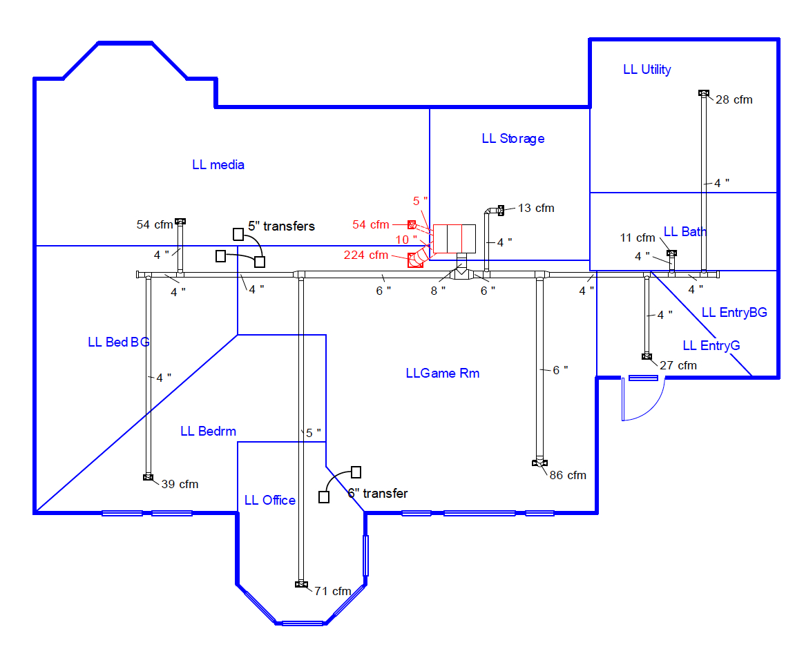 Air Compressor Sizing Spreadsheet Inside Duct Design 5 — Sizing The Ducts  Energy Vanguard