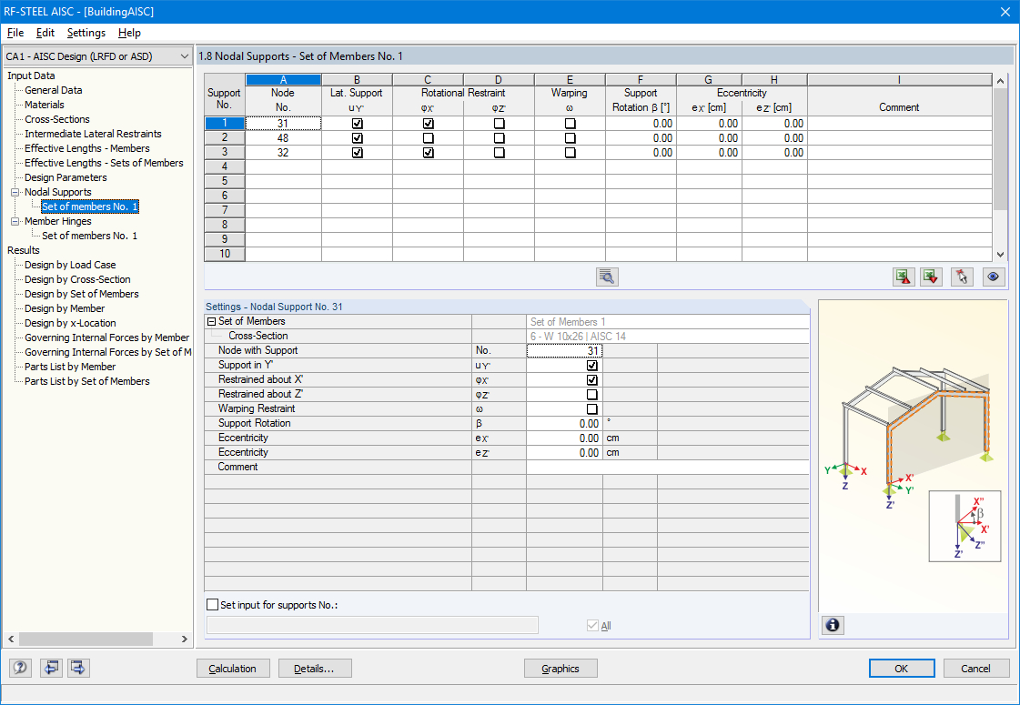 Aisc Crane Beam Design Spreadsheet With Regard To Steel Aisc: Steel Design Acc. To Ansi/aisc 360  Dlubal Software