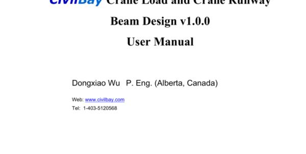 Aisc Crane Beam Design Spreadsheet Within Civilbay Crane Load And Crane Runway Beam Design V1.0.0 User Aisc Crane Beam Design Spreadsheet Google Spreadsheet