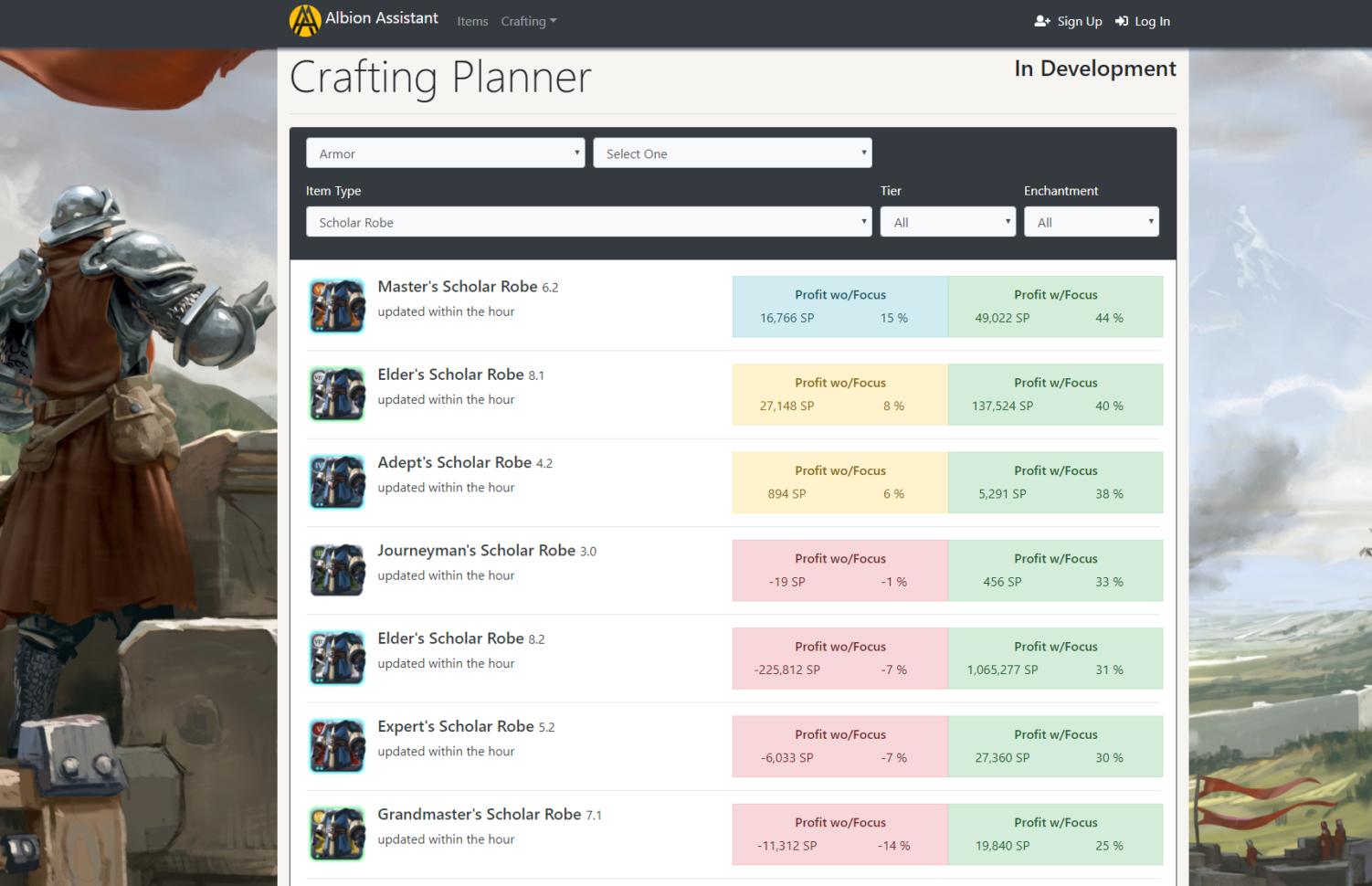 Albion Online Crafting Spreadsheet Inside Albion Online Crafting Planner : Albiononline