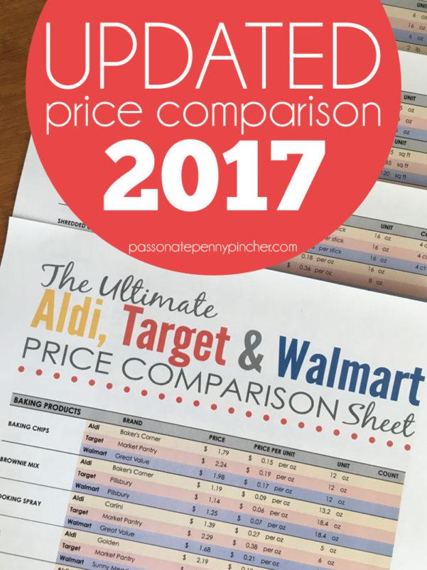Aldi Price List Spreadsheet 2017 In The Ultimate Aldi, Target  Walmart Price Comparison Sheet