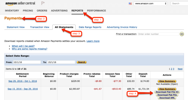 Amazon Fba Profit Spreadsheet Within How To Calculate Your Amazon Profits With Seller Central  Fetcher