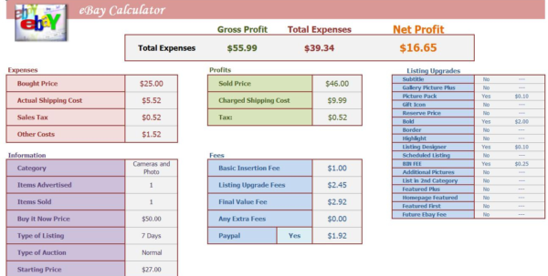 Amazon Profit Excel Spreadsheet Throughout Profit Calculator Excel  Kasare.annafora.co