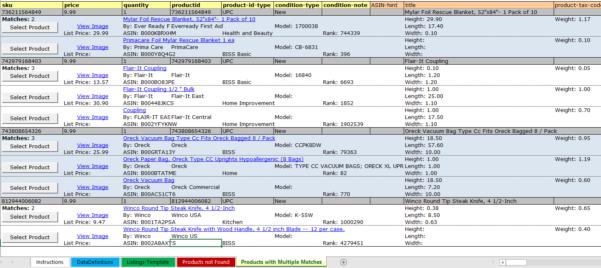 Amazon Seller Spreadsheet Regarding Improvements To The Listing Loader Spreadsheet  Listing Management