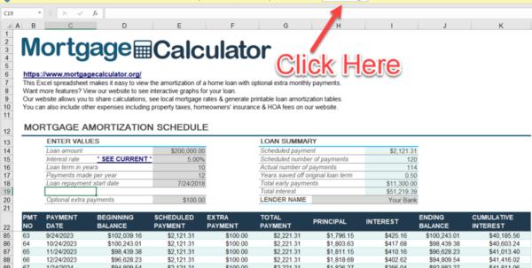 Amortization Calculator Spreadsheet In Download Microsoft Excel Mortgage Calculator Spreadsheet: Xlsx Excel