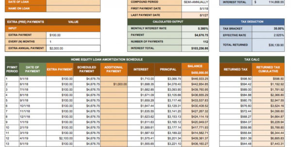 Amortization Schedule Mortgage Spreadsheet In Amortization Schedule Mortgage Spreadsheet Ic Home Equity Loan