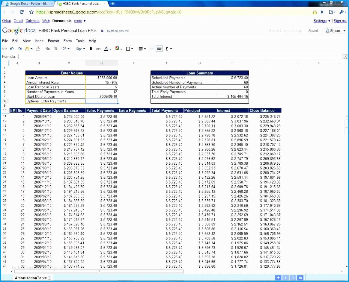 Amortization Spreadsheet Excel Inside Student Loan Amortization Schedule Template Unsophisticated 6 Loan