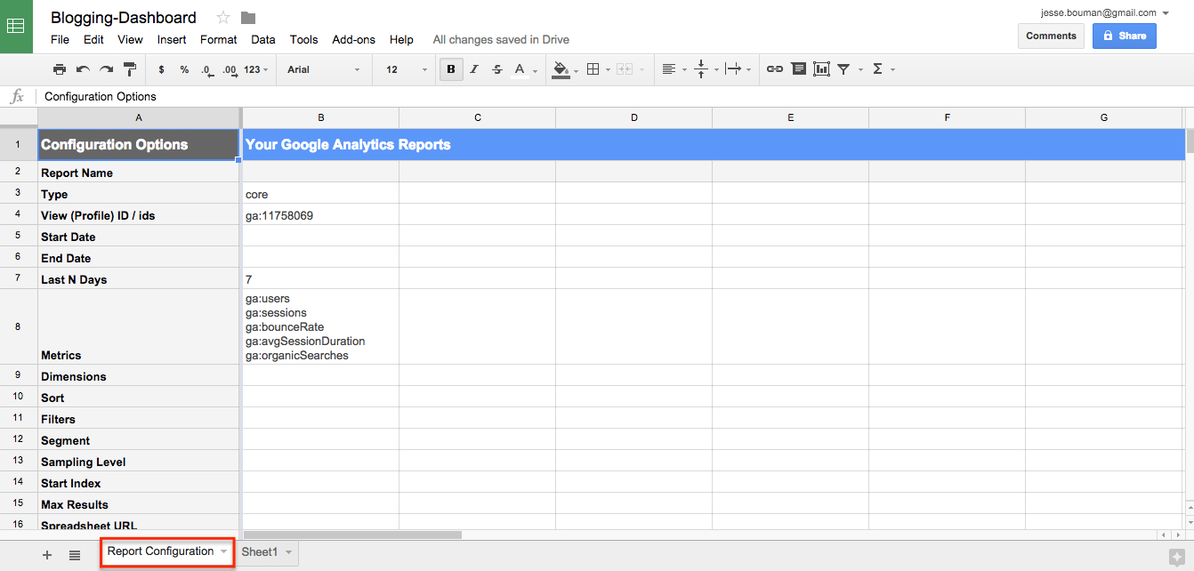 Analytics Spreadsheet Template Inside How To Create A Custom Business Analytics Dashboard With Google
