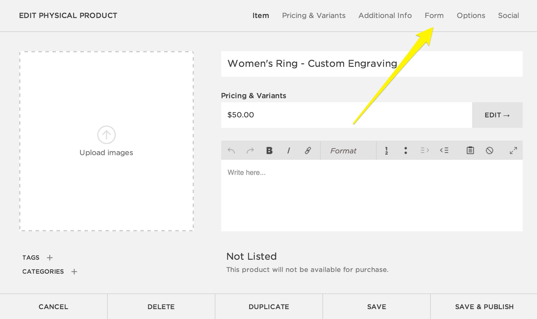 Anchor Block Design Spreadsheet With Regard To Creating A Custom Product Form – Squarespace Help