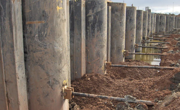 Anchored Sheet Pile Wall Design Spreadsheet Throughout Tie Rods For Marine Structures  Anker Schroeder  En