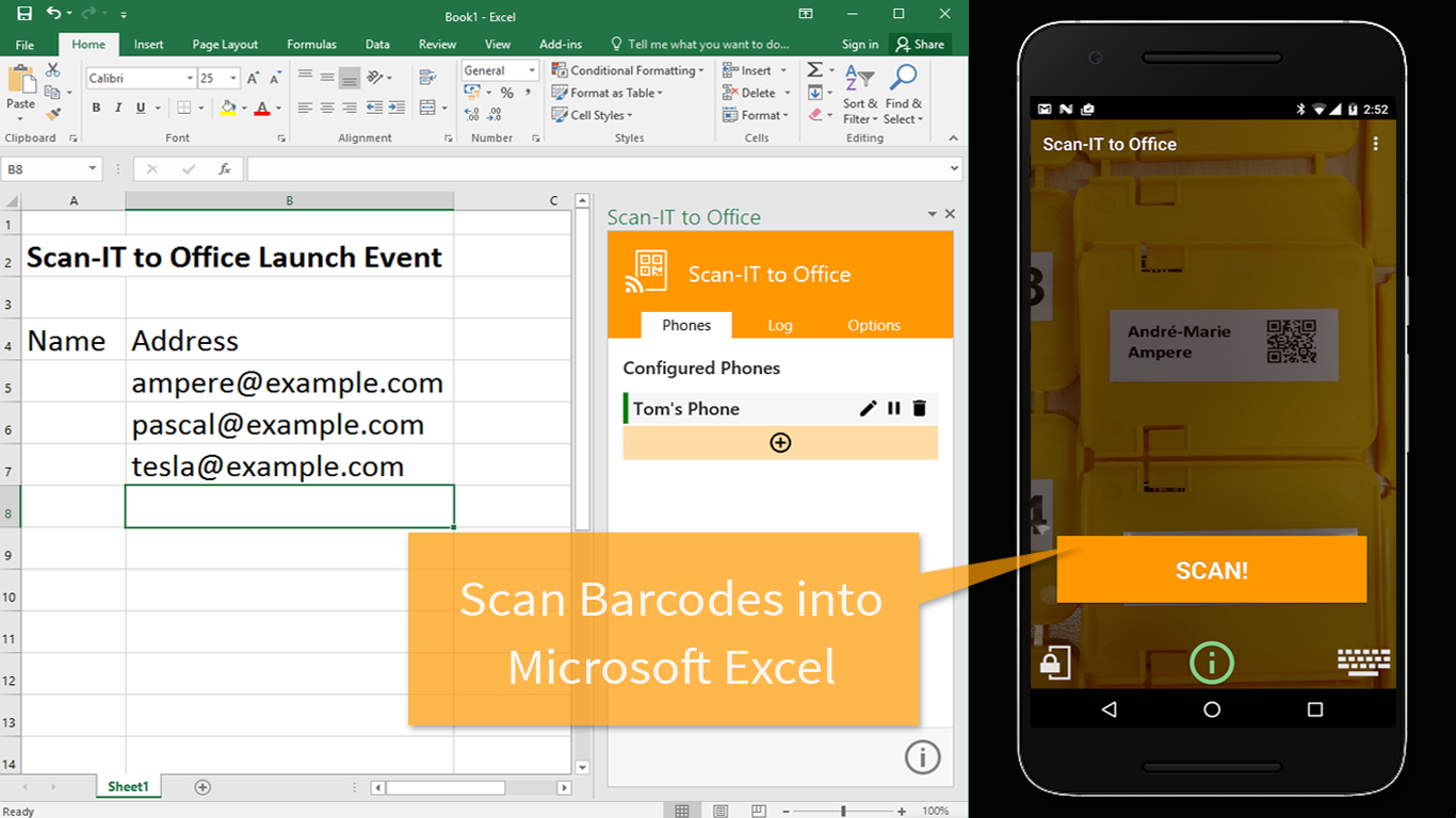 Android App For Excel Spreadsheets Inside Screenshotstoexcel1366X768 Barcode Scanner To Excel Spreadsheet