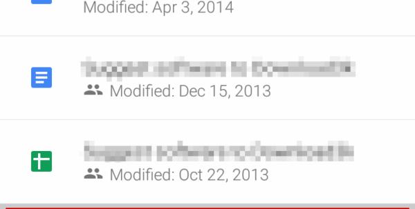 android spreadsheet widget
