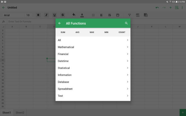 Android Spreadsheet With Macros With The 5 Best Spreadsheet Apps For Android In 2019