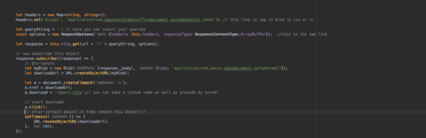 Angular Spreadsheet Within Download Csv/xl Sheet Through Http Client In Angular