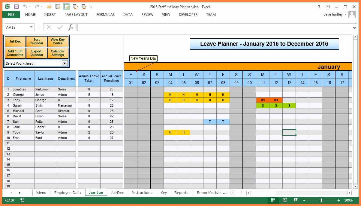 Annual Leave Spreadsheet 2018 For Free Annual Leave Spreadsheet Excel Template  Christinegloria
