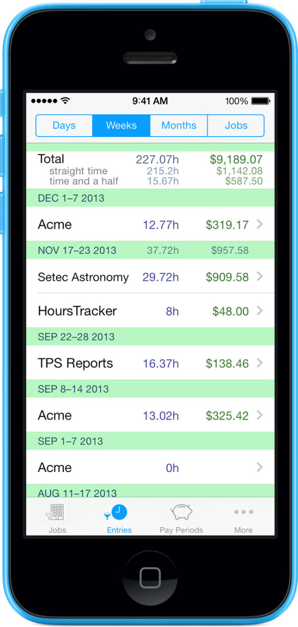 Annualised Hours Spreadsheet Inside Hourstracker ® Time Tracking App For Iphone And Android