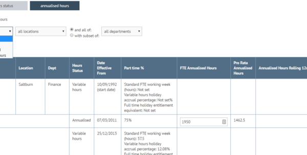 annualised hours spreadsheet