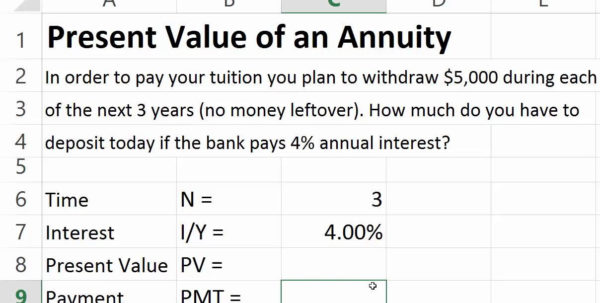 Annuity Spreadsheet With Youtube Spreadsheet Tutorial For Excel Annuity April Onthemarch