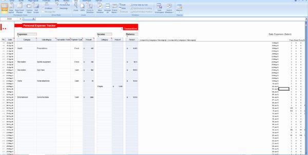 apartment expenses spreadsheet