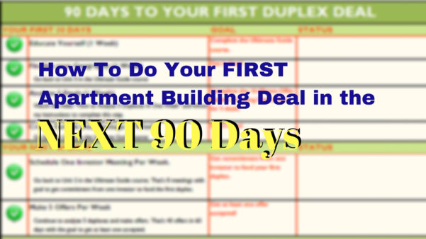 Apartment Investment Analysis Spreadsheet Throughout Checklist To Your First Apartment Building Deal In The Next 90 Days