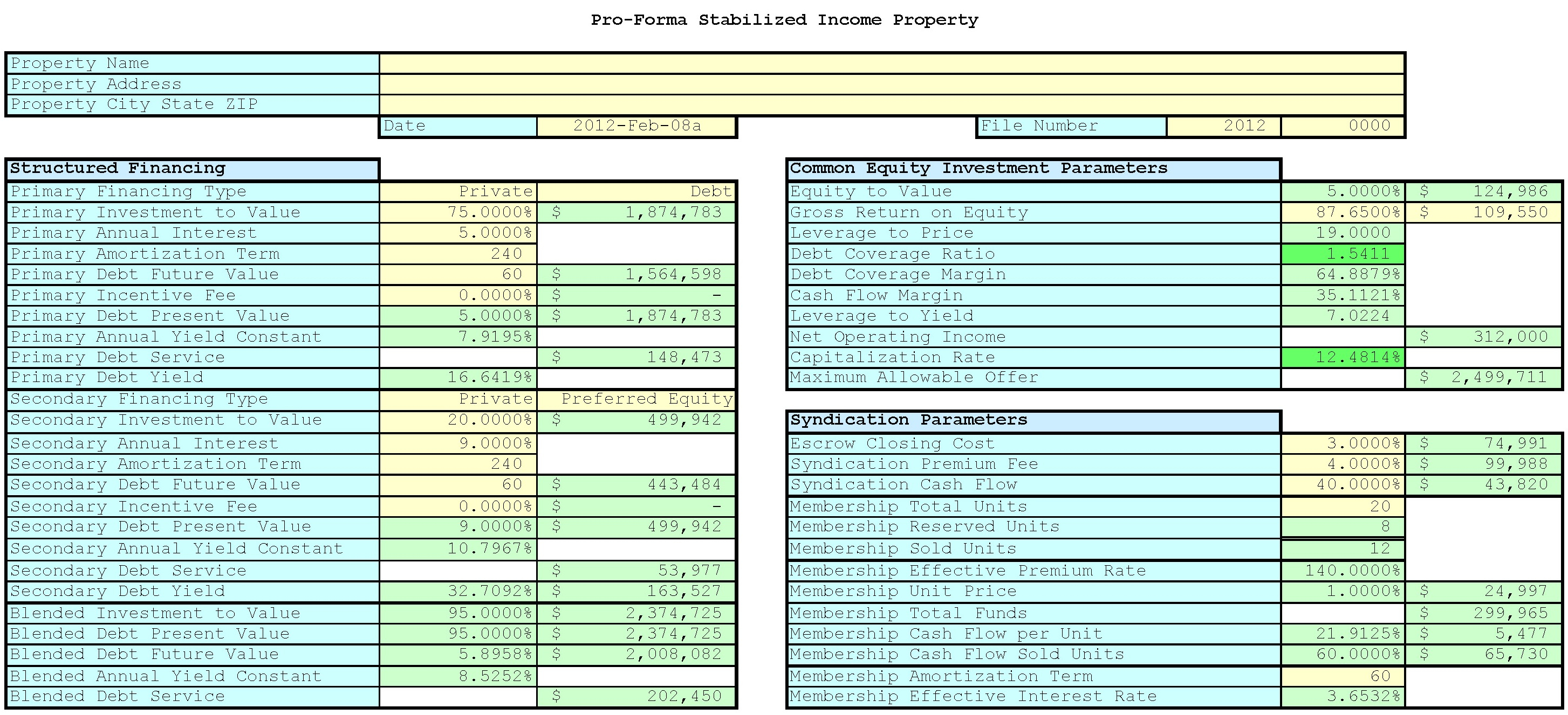 Apartment Valuation Spreadsheet In Introduction To Income Valuation And Syndication  Ultimate Bargains
