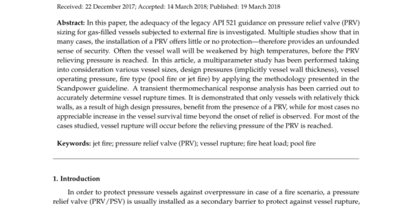 Api 520 Psv Sizing Spreadsheet Within Pdf On The Adequacy Of Api 521 Reliefvalve Sizing Method For Gas