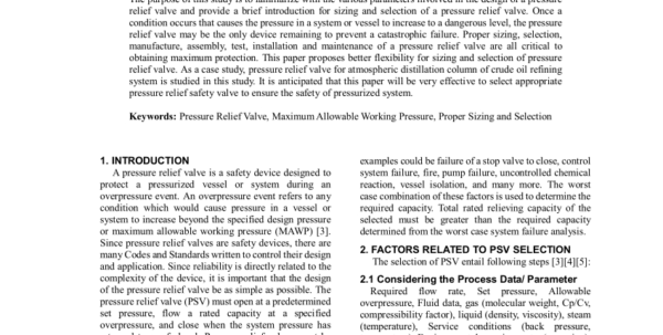 Api 520 Psv Sizing Spreadsheet Within Pdf Sizing And Selection Of Pressure Relief Safety Valve