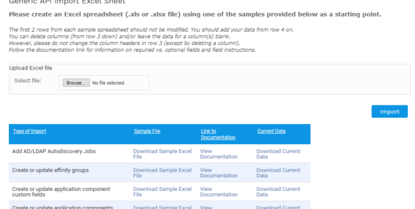 Api Enabled Spreadsheets For Importing Data From Existing Spreadsheets  Device42 Documentation