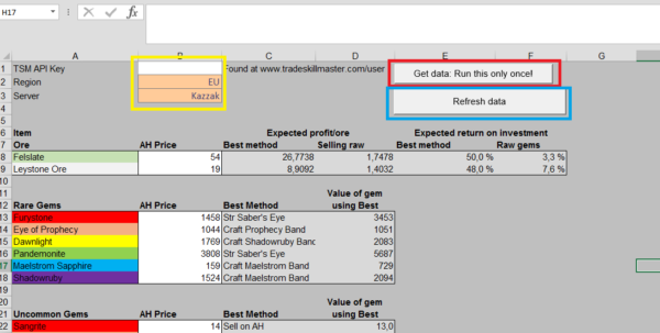 Api Enabled Spreadsheets With Apienabled Jewelcrafting Spreadsheet  The Lazy Goldmaker