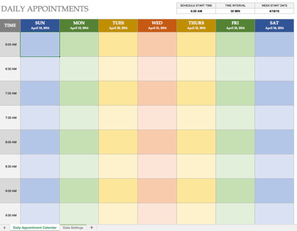 Appointment Spreadsheet Free For Printable Appointment Calendar  Printable Calendar  Birthday Cards